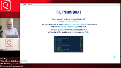 Python for Finance by Yves J  Hilpisch | Quants Hub
